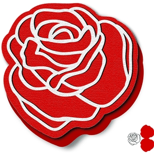 rose shape card