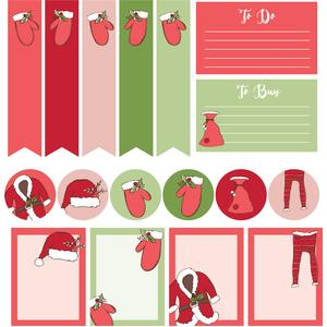 santa gear planner stickers