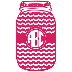 mason jar chevron monogram