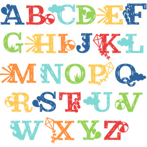 summer uppercase monograms