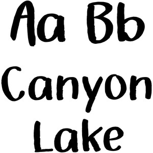 canyon lake font