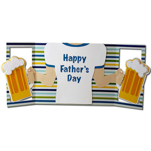 father's day beer mug card