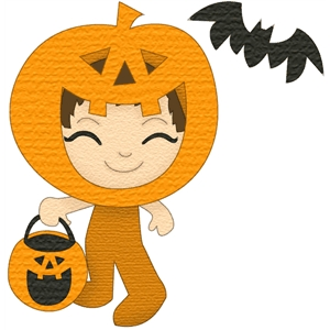costume kids pumpkin