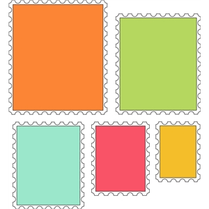 10 piece rectangle stamp set 1