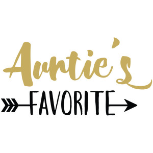 baby t-shirt: auntie's favorite