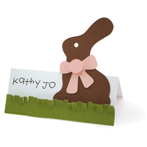 chocolate bunny placecard