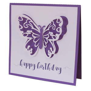 butterfly happy birthday card