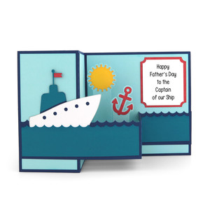 pop up box card father's day ship