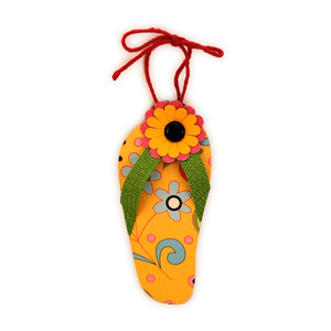 flip flop ornament flower