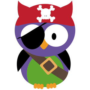 halloween pirate owl