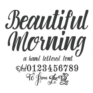 beautiful morning script font