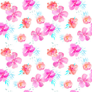 tropical flower pattern