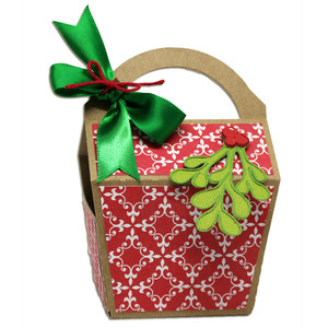 mistletoe favor box
