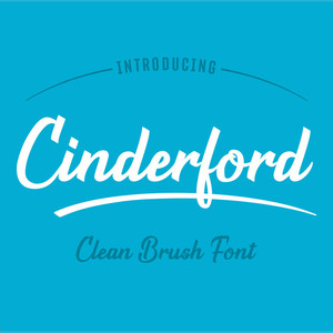 cinderford brush font