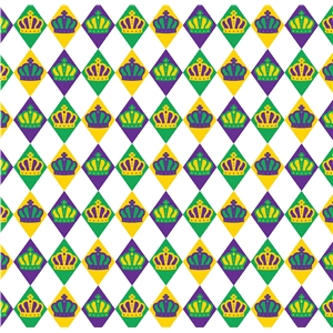 mardi gras diamond pattern
