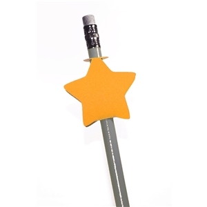double sided pencil topper- star