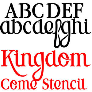 pn kingdom come stencil