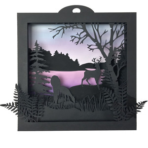 deer shadow box