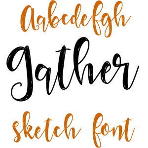 gather sketch font