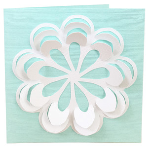 3d flower pop up card