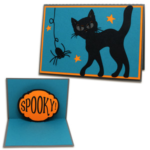 a2 pop-up spooky card
