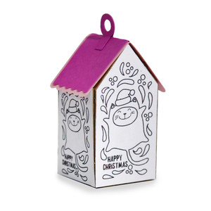 ml coloring house ornament - kitty