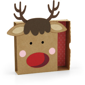matchbox reindeer gift card holder