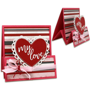 my love tent fold card