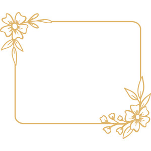 floral rectangle frame