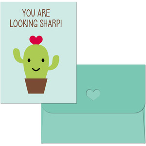 valentine print and cut cactus