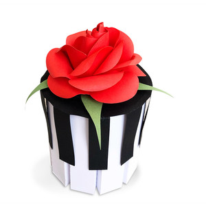 piano tube box with 3d rose