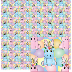 easter unicorns pattern