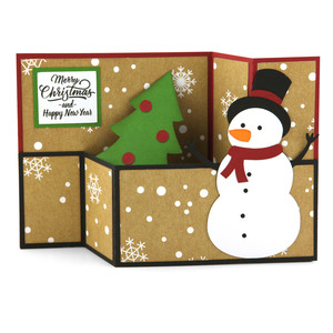 wiper card christmas snowman