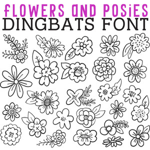 cg flowers and posies dingbats