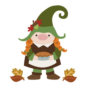 gnome with pie