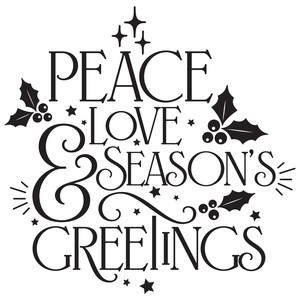 peace, love & season's greetings quote