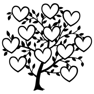 11 heart family tree