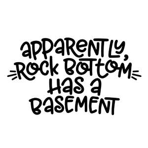 rock bottom has a basement