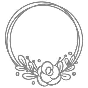round simple floral border