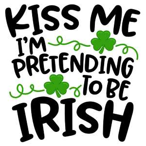 pretending to be irish