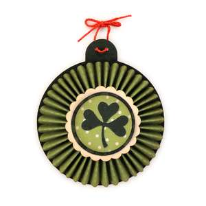 shamrock 3d pleat rosette ornament