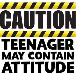 caution teenager may contain attitude