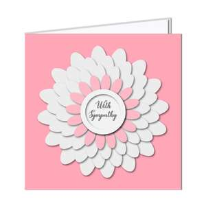 3d layered flower card  - sympathy