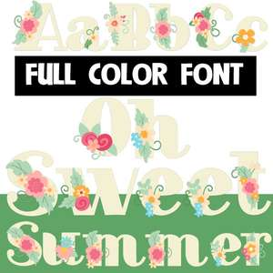 oh sweet summer color font