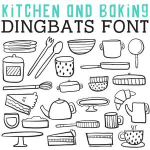 cg kitchen and baking dingbats
