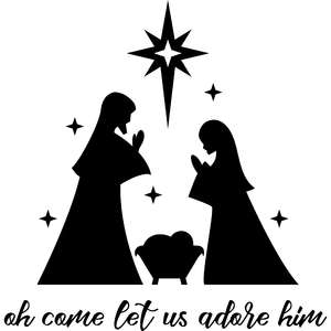 oh come let us adore him nativity