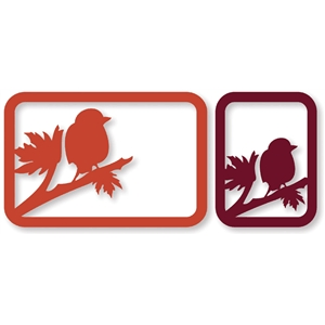 fall bird branch cards