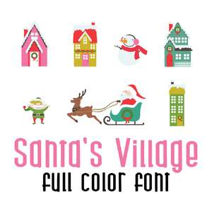 santa's village full color font