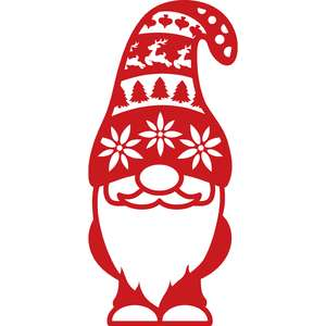 gnome with christmas hat