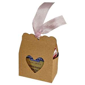 chocolate square heart container